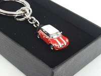 ES#2684037 - 80902352308 - MINI Car Key Ring - Chili Red - Miniature enameled MINI on a key ring - Genuine MINI - MINI