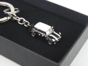 ES#2683929 - 80902352307 - MINI Car Key Ring - Black - Miniature enameled MINI on a key ring - Genuine MINI - MINI