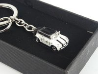 ES#2683956 - 80902352309 - MINI Car Key Ring - Pepper White  - Miniature enameled MINI on a key ring - Genuine MINI - MINI