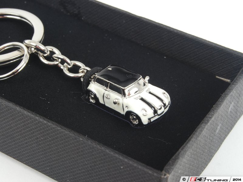 genuine mini  mini car key ring pepper white