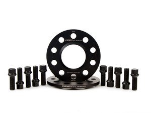 ES#2788501 - 002411ECS04A8KT2 - Wheel Spacer & Bolt Kit - 8mm with Black Ball Seat Bolts - Includes everything you need to install our new wheel-centric spacers on two wheels - ECS - Audi