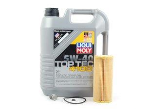 ES#2785066 - MK4TDIOILKT7 -  Oil Service Kit - *ECS Recommends* - Includes Hengst oil filter and Liqui Moly 5w-40 oil - Assembled By ECS - Volkswagen