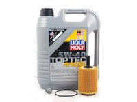 ES#2785133 - MK5TDIOILKT9 -  Oil Service Kit - Includes Mann oil filter and Liqui Moly 5w-40 oil - Assembled By ECS - Volkswagen
