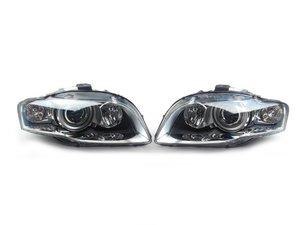 ES#2770926 - 8E0941030BPKT - Euro Xenon Headlight Set - Upgrade to the European style housings without the amber indicator - Automotive Lighting - Audi