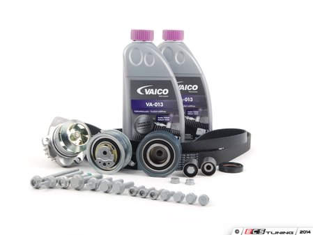 ES#2515524 - 03L198001KTUL - Timing Belt Kit - Ultimate Plus - The Ultimate timing belt kit just got better, same good parts with added coolant - Assembled By ECS - Volkswagen