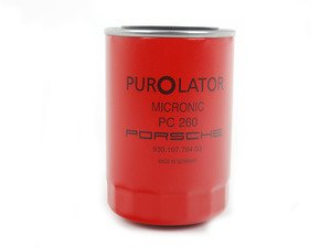 ES#2776667 - 93010776403 - Screw-On Oil Filter - Red - Oil filter fitted to the oil tank - Genuine Porsche - Porsche