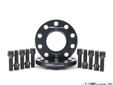 ES#2550396 - ECS#255KTWB2 - BMW 15mm Rear Wheel Spacers & ECS Conical Seat Bolt Kit - Aluminum wheel spacers & bolt kit made specifically for your BMW - ECS - BMW