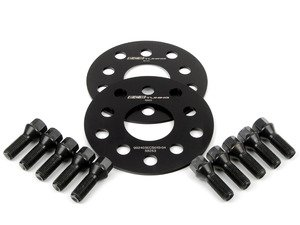 ES#2748182 - ECS10153KTWBC1KT - ECS Wheel Spacer & Bolt Kit - 4mm With Black Conical Seat Bolts - Includes everything you need to install spacers on two wheels - ECS - Audi Volkswagen