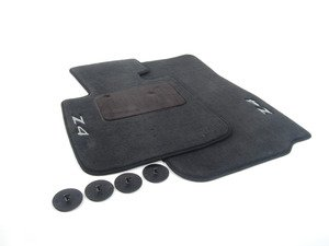ES#514803 - 82112157092 - Carpeted Floor Mat Set - Black - Embossed with the Z4 logo - Genuine BMW - BMW