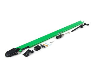ES#1905608 - RM0446 - PitchFork - Green - Sturdy and aerodynamic bike rack designed to fit both Yakima and Thule crossbars. Accommodates bikes with or without disc brakes. - Rocky Mounts -