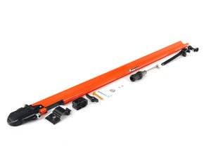 ES#1905610 - RM0444 - PitchFork - Orange - (NO LONGER AVAILABLE) - Sturdy and aerodynamic bike rack designed to fit both Yakima and Thule crossbars. Accommodates bikes with or without disc brakes. - Rocky Mounts -