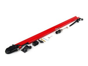 ES#1905607 - RM0440 - PitchFork - Red - Sturdy and aerodynamic bike rack designed to fit both Yakima and Thule crossbars. Accommodates bikes with or without disc brakes. - Rocky Mounts -