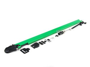 ES#1905633 - RM1105 - Euro PitchFork - Green - Sleek, low-profile bike rack designed to fit smoothly into slotted crossbars - Rocky Mounts -
