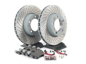ES#3690669 - 99635140902KT - Front Brake Service Kit - Featuring Genuine Porsche rotors, brake pads, and pad sensors - Genuine Porsche - Porsche