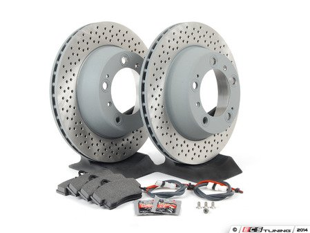 ES#2598186 - 99635240104ROKT - Rear Brake Service Kit - Featuring Sebro rotors and Textar brake pads - Assembled By ECS - Porsche