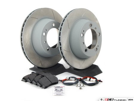 ES#2598187 - 99635240104RPKT1 - Performance Rear Brake Service Kit - Featuring Sebro slotted rotors and Hawk HPS brake pads  - Assembled By ECS - Porsche