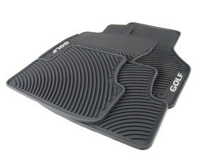 ES#2755212 - 5G1061550041 - Monster Mats Floor Mat Set - Golf - The best floor mats available to protect your interior from all kinds of natural elements, featuring white lettering - Genuine Volkswagen Audi - Volkswagen