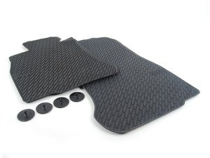 ES#2165758 - 51472163801 - Front Rubber Floor Mats - Black - All weather protection for your BMW - Genuine BMW - BMW