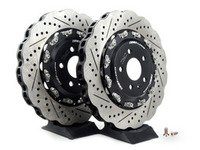 ES#2785596 - 003281ECS02A02KT -  Front 2-Piece Wave Brake Rotors - Pair (365x34) - Direct bolt-on upgrade to Tru-Float wave style rotors - ECS - Audi