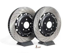 ES#2603007 - 000574ECS01AKT - Front 2-Piece Brake Rotors - Pair (365x34) - Direct bolt-on upgrade - reducing unsprung weight! - ECS - Audi