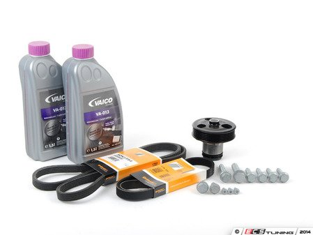 ES#2792991 - 07K121011BKT7 - Water Pump Replacement Kit - Featuring Hepu water pump and Continental drive belts - Assembled By ECS - Volkswagen
