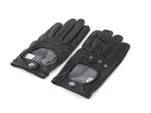 ES#256639 - 80162150525 - BMW Driving Gloves - S - Leather driving gloves garnished with the BMW roundel - Genuine BMW - BMW