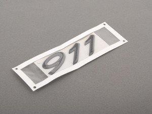 """ES#1481128 - 9935592370170C - """"911"""" Logo Insignia - Rally Black - """"911"""" engine lid emblem - Genuine Porsche - Porsche"""