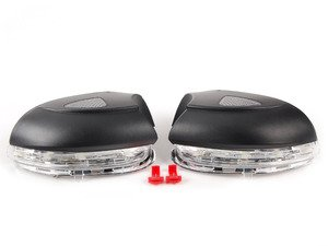 ES#2792830 - MR-VWG6-PLC - Sequential LED Mirror Housings - Clear - Upgrade your mirrors with sequential indicators and puddle lights - Helix - Volkswagen