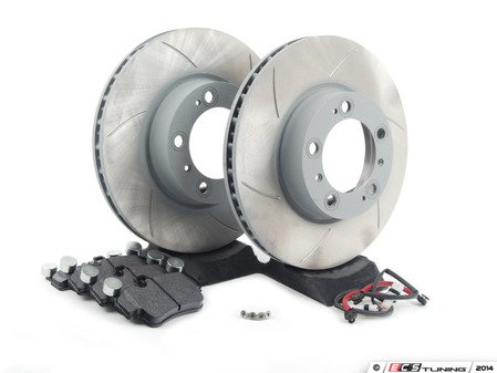 ES#2598185 - 99635140501FPKT1 - Performance Front Brake Service Kit - Featuring Sebro slotted rotors and Hawk HPS brake pads - Assembled By ECS - Porsche