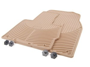 ES#120629 - 51470151501 - Front Rubber Floor Mat Set - Beige - Protect your carpet from the elements - Genuine BMW - BMW