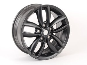 "ES#2159817 - 36109804371 - R124 Double Spokes 5 Star Wheel 17"" (5x120) Anthracite - Priced Each - 17 x 7J ET:50 - Genuine MINI - MINI"