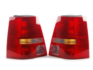 ES#2784513 - 1J9998002 - Ocean Style Tail Light Set - Tail lights from the European Golf Variant Ocean Edition model with red/red/clear/red lenses that fit all MK4 Jetta Wagons - TYC - Volkswagen