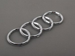 ES#454869 - 8N0853605 - Audi Chrome Emblem - Front - Get a new emblem and restore the look of your vehicle  - Genuine Volkswagen Audi - Audi