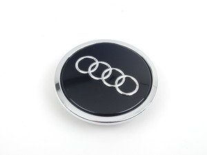 ES#1904494 - 4B0601170AAX1 - Center Cap - Glossy Black - Priced Each - Replace your missing or damaged cap (56mm) - Genuine Volkswagen Audi - Audi