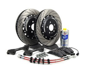 ES#2793048 - 003883ECS03KT - Front Big Brake Kit - Stage 2 - 2-Piece Rotors (380x34) - A direct fit kit that utilizes your stock calipers with ECS stainless steel lines & Hawk HPS 5.0 pads - ECS - Audi