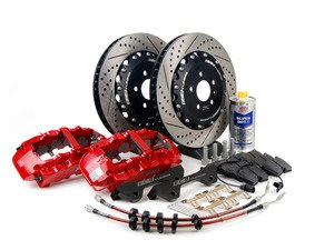 ES#2739887 - 003883ECS01KT - Front Big Brake Kit - Stage 4 - 2-Piece Rotors (380x34) - Featuring Red RS5 8-piston calipers, ECS stainless steel lines & Hawk HPS pads - ECS - Audi