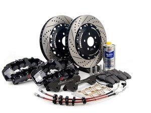 ES#2785042 - 003883ECS02KT - Front Big Brake Kit - Stage 4 - 2-Piece Rotors (380x34) - Featuring Black RS5 8-piston calipers, ECS stainless steel lines & Hawk HPS pads - ECS - Audi