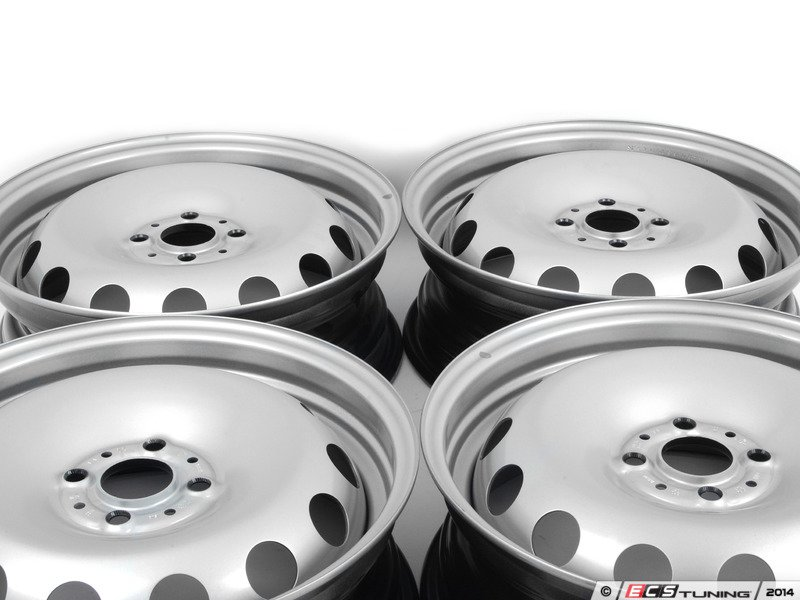 Genuine Mini 36116764346kt Steel Wheel Silver Set Of