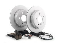 ES#2766113 - 34216855008KT4 - Rear Brake Service Kit - Featuring Zimmermann Brake Rotors and Akebono Ceramic Pads - Assembled By ECS - BMW