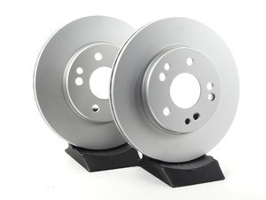 ES#2622603 - 1244211612KT6 - Front Brake Rotors - Pair - Featuring a protective Meyle Platinum coating - Meyle - Mercedes Benz