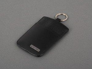 ES#2603423 - WAP0300110D - Sport Classic Key Pouch - Black leather key fob with protective pouch - Genuine Porsche - Porsche