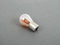 ES#257213 - N10256404 - 1156 Single Filament Bulb - Chrome - Priced Each - Eliminate the yellow glass but keep the amber light - Genuine Volkswagen Audi - Audi Volkswagen