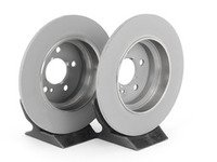 ES#2684707 - 000423101207KT - Rear Brake Rotors - Pair - Solid Rotors - Not For Use On Vehicles With Vented Rear Brake Rotors - Genuine Mercedes Benz - Mercedes Benz