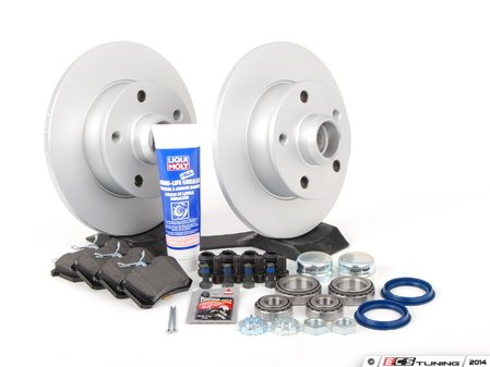 ES#2697653 - 357615601B - Rear Brake Service Kit - Everything you need to replace your rear brakes - Assembled By ECS - Volkswagen