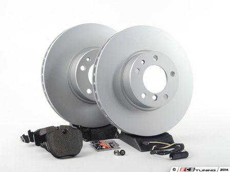 ES#240376 - ECSE393411-2 - Front Brake Service Kit - Featuring Meyle Brake Rotors and Pagid Pads - Assembled By ECS - BMW