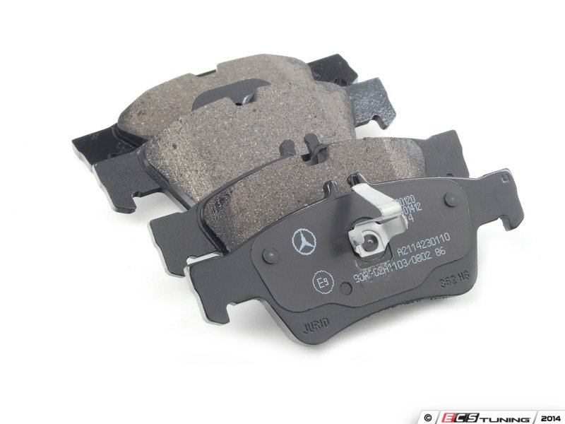 Genuine mercedes benz 007420102041 rear brake pad set for Mercedes benz gl450 brake pads