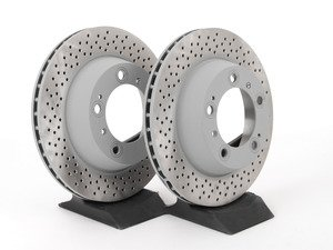 "ES#2535841 - 98635240301KT - Rear Brake Rotors - Pair 11.77"" (299mm) - Rear axle fitment - Both left and right - Sebro - Porsche"