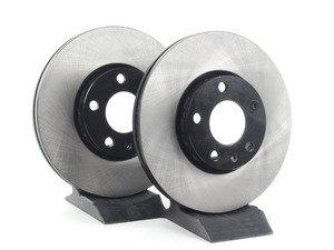 ES#4568 - 4A0698301D - Front Brake Rotors - Pair (288x25) - Restore the stopping power in your vehicle - OP Parts - Audi Volkswagen