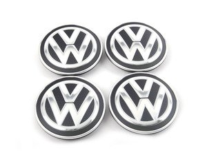 ES#2738850 - 5G0601171XQIKT - Center caps - Set of 4 - Perforated-look VW center caps first installed on the MK7 GTI. 66mm - Genuine Volkswagen Audi - Volkswagen