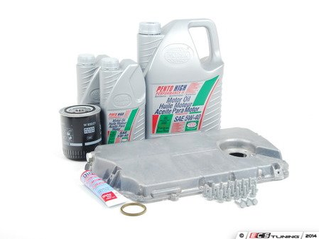 ES#2602575 - 06C103604CKT - Oil Pan Replacement Kit - Everything required to replace your leaking pan, including the oil change - Assembled By ECS - Audi